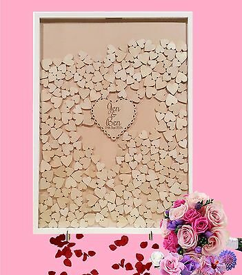 Personalised Shabby Wooden Guest Book dropbox JUMBO Frame Wedding Engagement 350
