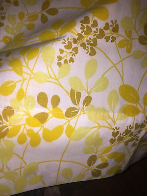 Vintage Pillowcases Pair Yellow Mustard Floral Percale