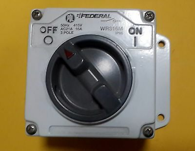 Isolating Switch - Heavy Duty -  Metal Body - Pdl Federal Brand - Wr316M