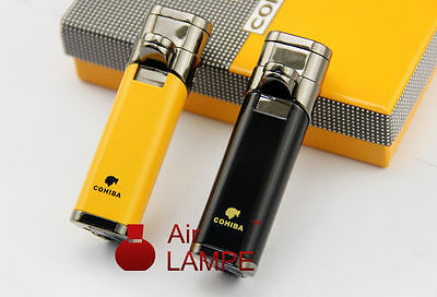 Free Shipping Cohiba Triple Torches Jet Flame Windproof Cigarette Cigar Lighter