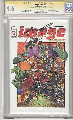 Image Comics IMAGE ZERO #0 CGC SS 9.6 White Pages Signed by ROB LIEFELD