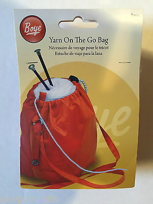 Simplicity Yarn On The Go Bags Yarn Holder Tidy Knitting Craft Bag Red Blue