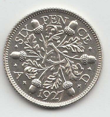 Very Rare George V 1927 Proof Silver Sixpence 6d