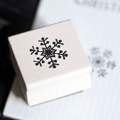 East of India Snowflake Rubber Stamp / DIY Christmas Tags