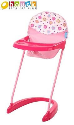 NEW Spring Pink Doll High Chair from Mr Toys