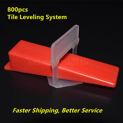 800 Tile Leveling System = 600 Clips + 200 Wedges Spacers Tiling Tools Plastic