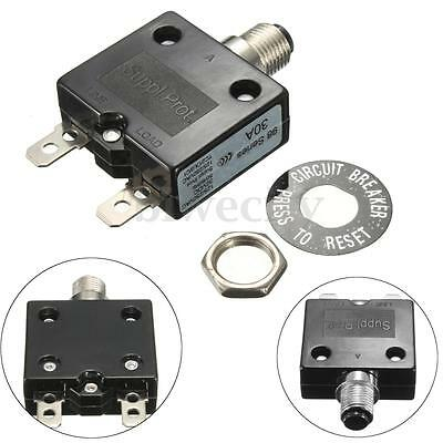 AC 125/250V 30A 30 Amp Circuit Breaker Thermal Overload Protector For Generator