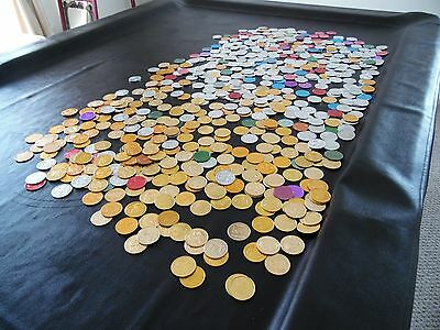 Marti Gras Doubloons Multi Color Multi Subjects Lot of 676 from 1960's and 70's