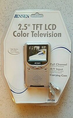 """Sony FD-20A B/W TV & Jensen 2.5"""" TFT LCD Color Television See Video Below"""