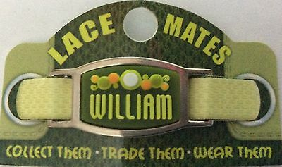 Personalised Named WILLIAM LACE MATES For Shoelaces Jewellery Making Wristbands