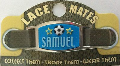 Personalised Named SAMUEL LACE MATES For Shoelaces Jewellery Making Wristbands