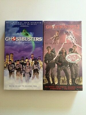 Lot Of 2 Ghostbusters 1 & 2 VHS
