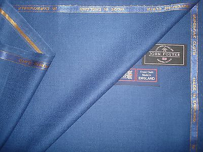 100% EXTRAFINE MERINO WOOL SUITING FABRIC MADE IN ENGLANBD BY JOHN FOSTER– 3.4 m