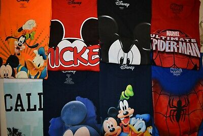 Wholesale lots 24 Pcs Men's Disney Licensed T Shirts Nice Printed Assorted