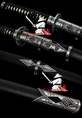 New Arrived Japanese Tachi Sword Clay Tempered T10 Steel Full Tang Blade Sword