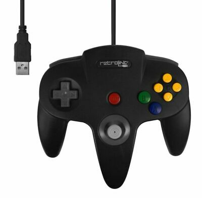 Retrolink USB Nintendo N64 Classic Controller for PC and Mac (Black) Brand New
