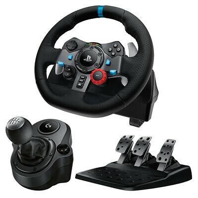 Logitech G29 Driving Force Racing Wheel for PS4 / PC + Logitech Driving Force Sh