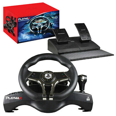 PLAYMAX Hurricane Steering wheel for PS4 and PS3 NEW