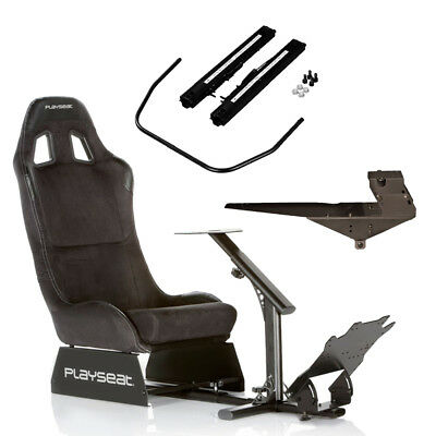 Playseat Evolution Alcantara with Improved Pedal Plate + Gearshift Holder Pro +