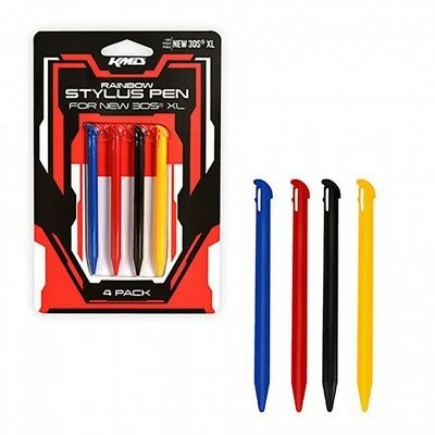 KMD Rainbow Stylus Pens 4 Pack for New Nintendo 3DS XL NEW