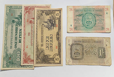 BILLET - lot 5 billets JAPON (5113J)