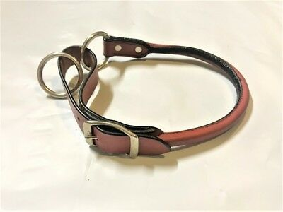 Red Leather Dog Collars - Rolled Strong Leather - Choker Option