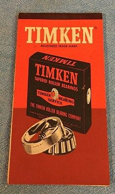 Vintage 1950's 1960's Timken  Tapered Roller Bearings Co. Advertising Notepad