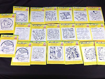 Lot of 20 Aunt Martha's Hot Iron Transfers Unused Some Sealed Pillowcase Linens