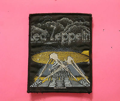 Vintage 1986 Led Zeppelin Woven Sew On Patch  Uk Import Official
