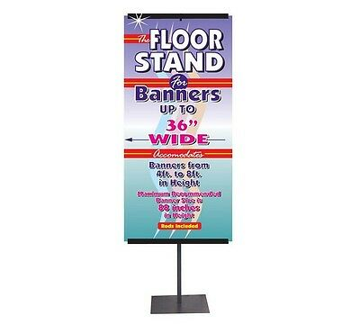 Lynch Sign Banner Stand Wide Telescoping Display Show Adjustable Telescopic New