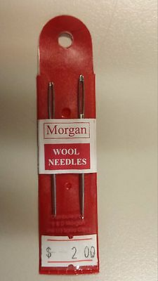 Morgan Wool Needles 2 x Darning Needles with Large Eye for Sewing Wool