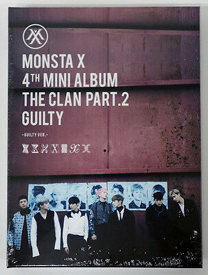 MONSTA X - The Clan 2.5 Part.2 Guilty [GUILTY Ver.] CD+Poster+Extra Photocards