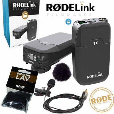 Rode Rodelink Lapel Camera Wireless Transmitter Receiver Microphone system with