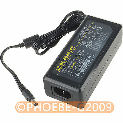 12V 8.5A 102Watt Power Supply Adapter 100-240V AC to DC 5.5 x 2.5mm/5.5 x 2.1mm