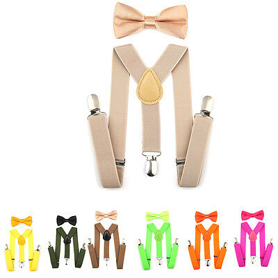 Boys Girls Junior Kids BRACES SUSPENDERS FANCY DRESS SUITS Stripe Checked Dot