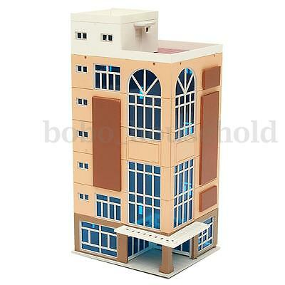 N Scale 1/144 Dark Beige Trade Building For Scenary Layout Outland Model