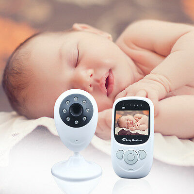 2.4GHz Wireless LCD color camara de vision nocturna Baby Monitor Audio Video