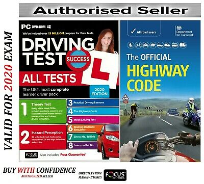 2019 Driving Theory Test & Hazard CD Rom DVD + Offiicial Highway Code Book L New