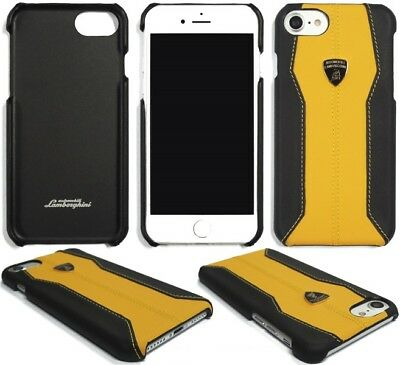 Lamborghini Huracan-D1 Yellow Leather Back Cover for iPhone 7 / 8 (4.7)