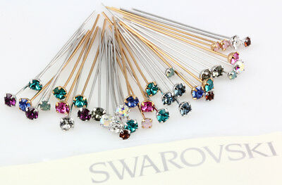 Genuine SWAROVSKI Crystal Head Pins with 1088 XIRIUS Chatons * Many Colors