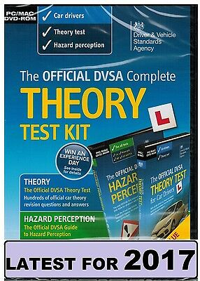 Official DVSA Theory Test Kit 2016/2017 PC MAC DVD Hazard Perception DVLA CD kit