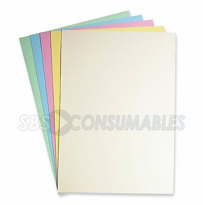 50 Sheets A4 160gsm Coloured Card PASTEL MIX Soft colours - Ideal for art crafts