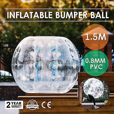 1.5M Inflatable Bubble Bumper Zorb Ball TPU Football Soccer Handle Heat Sealed