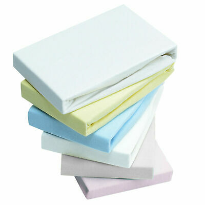 4x Fitted Sheets Compatible With Chicco Lullago Crib 100 % Cotton