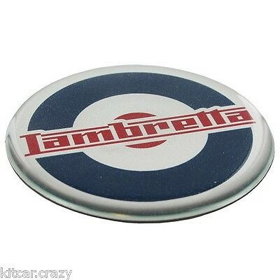 Official Lambretta Scooter Fridge Magnet, Roundel Logo Design, Collectable