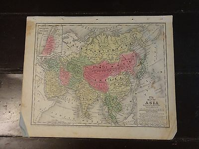 1840 Hand Colored Engraved Map of Asia, Pub. in Mitchell's Atlas
