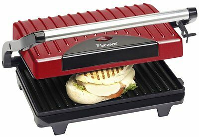 Gril à Panini / Viande - 700 W  - Rouge - Bestron APG100R - NEUF