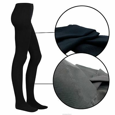 New Ladies Winter Warming Fleece Lined Thick Thermal Womens Full Foot Tights