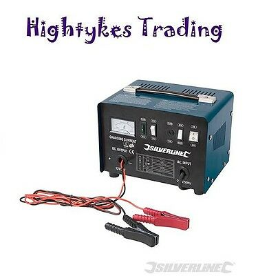 Silverline 178555 Battery Charger 12/24V 20 - 240Ah Batteries charge electric