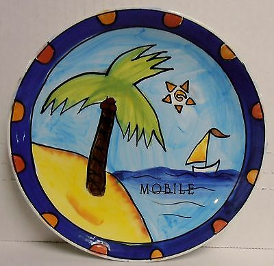"Mobile, Alabama 7"" Dia. Souvenir Porcelain Decorative Plate w/Loop, BRAND NEW"
